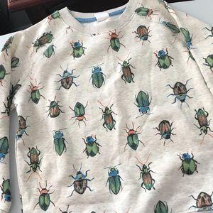 Gymboree grey sweatshirt with beetles. NWT